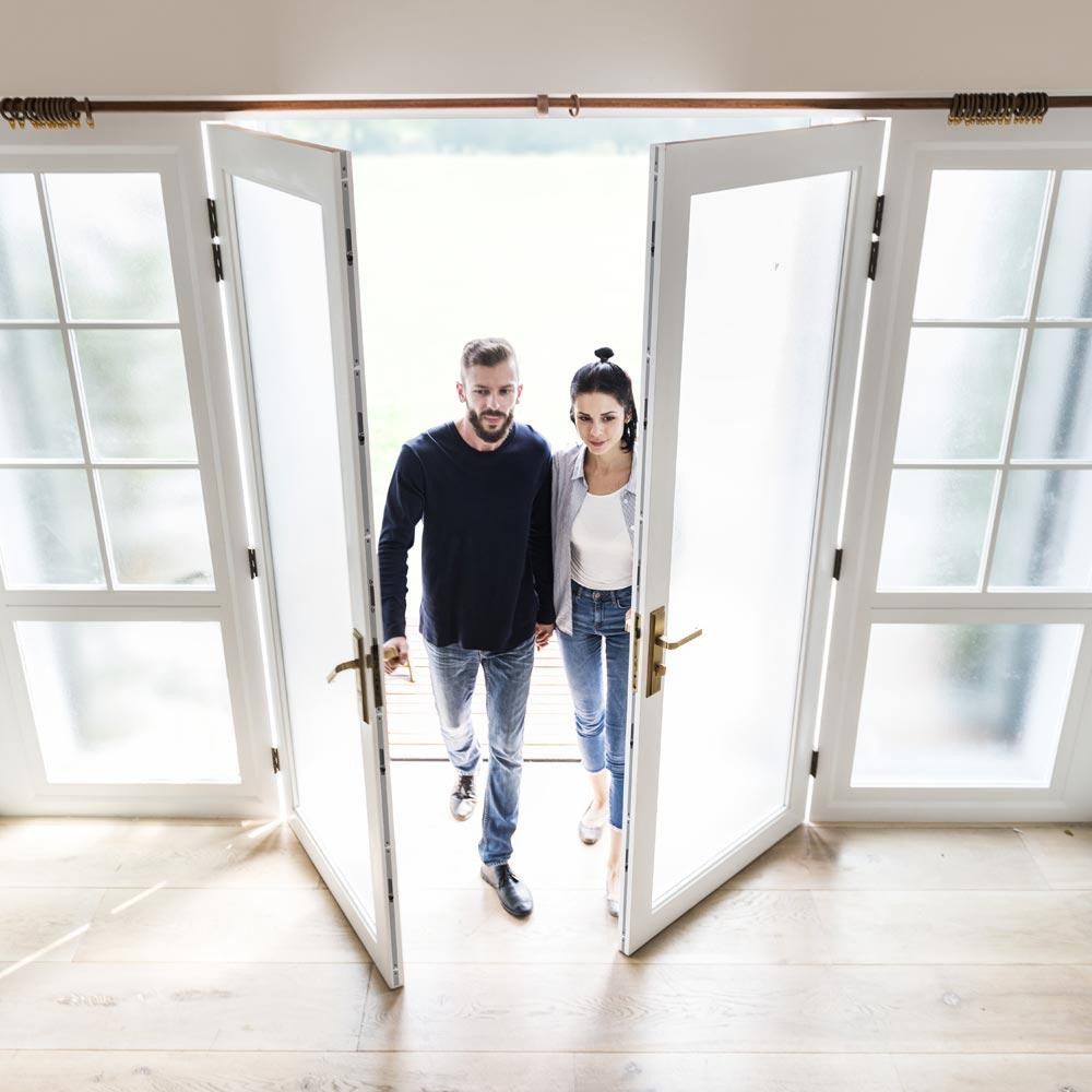 Drzwi aluminiowe z opcją naświetla