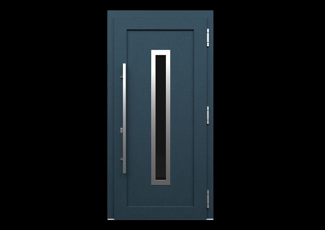 Drzwi wejsciowe kolor antracyt strukturalny