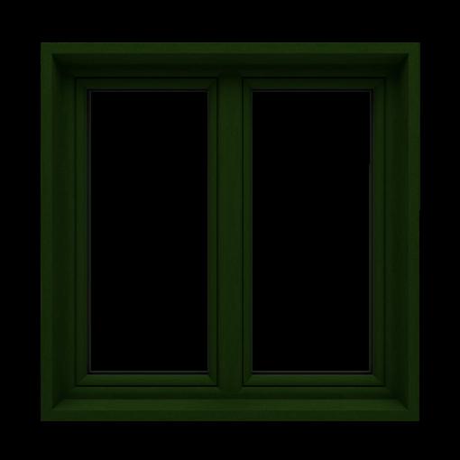 T-Passive Slim okno monoblok kolor ciemny zielony